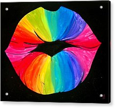 Rainbow Smooch Acrylic Print