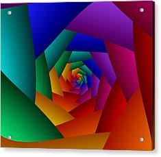 Rainbow Spiral Acrylic Print