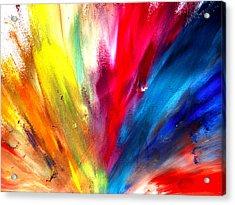 Rainbow Spray Acrylic Print by Sumit Mehndiratta