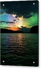 Rainbow Sunset Acrylic Print by Adam LeCroy