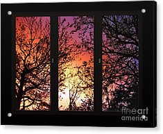 Rainbow Sunset Through Your Window Acrylic Print