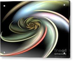 Rainbow Swirl Acrylic Print by Sandra Bauser Digital Art