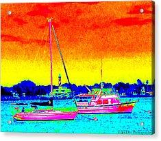 Rainbow Tide Acrylic Print