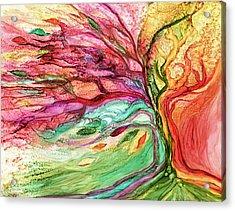 Rainbow Tree Acrylic Print by Carol Cavalaris