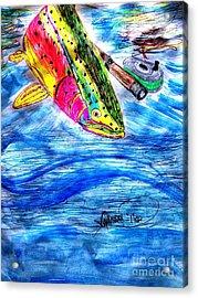 Rainbow Trout Fly Fishing Acrylic Print