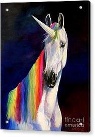 Rainbow Unicorn Acrylic Print