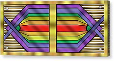Acrylic Print featuring the digital art Rainbow Wall Hanging Horizontal by Chuck Staley