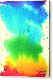 Rainbow Wash Acrylic Print by Chandelle Hazen