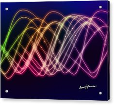 Rainbow Waves Acrylic Print by Anthony Caruso