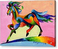 Rainbow Wind Acrylic Print