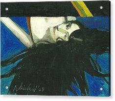 Rainbow  Woman Black Hair Acrylic Print by Harry  Weisburd
