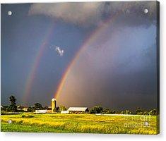 Rainbows And Silos Acrylic Print