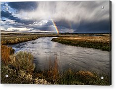 Rainbows At The Upper Owens Acrylic Print