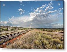 Rainbows Over Ghan Tracks Acrylic Print