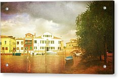 Acrylic Print featuring the photograph Raincloud Over Malamocco by Anne Kotan
