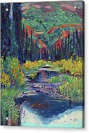 Raindrop Pond - Plein Air Acrylic Print