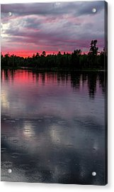 Raindrops At Sunset Acrylic Print by Mary Amerman