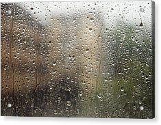 Raindrops On Window Acrylic Print by Brandon Tabiolo - Printscapes