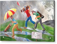 Rained Out Acrylic Print by Marilyn Jacobson