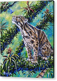 Rainforest Encounter Acrylic Print by Gail Butler