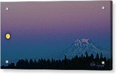 Rainier Moonrise Acrylic Print