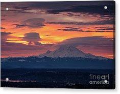 Rainier Sunrise Lenticular Cloudscape Acrylic Print
