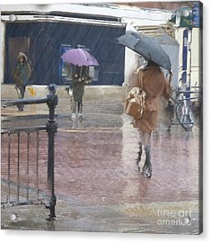 Acrylic Print featuring the photograph Raining All Around by LemonArt Photography