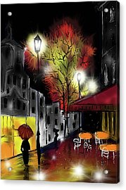 Raining And Color Acrylic Print