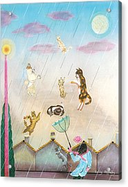Raining Cats And Dogs Acrylic Print by Sally Appleby