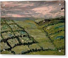 Acrylic Print featuring the painting Raining by Evelina Popilian