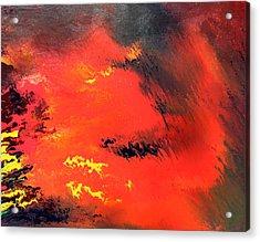 Raining Fire Acrylic Print