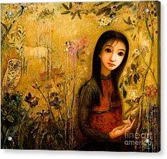 Raining Garden Acrylic Print by Shijun Munns
