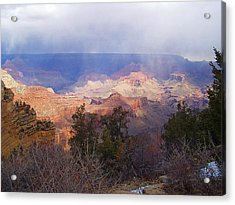 Raining In The Canyon Acrylic Print by Marna Edwards Flavell