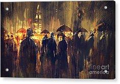 Raining Acrylic Print