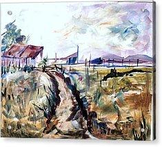 Rains Comin Acrylic Print by Linda King
