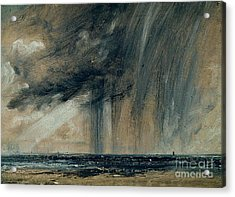 Rainstorm Over The Sea Acrylic Print by John Constable