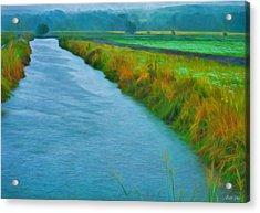 Rainy Canal Acrylic Print