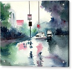 Rainy Day Acrylic Print by Anil Nene