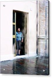 Rainy Day Acrylic Print by Artecco Fine Art Photography