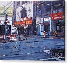 Rainy Day In Boston Acrylic Print