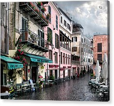 Rainy Day In Nemi. Italy Acrylic Print