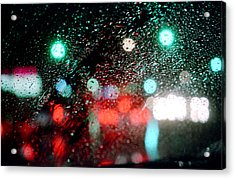 Rainy Day In The City Acrylic Print by Emanuel Tanjala