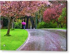 Rainy Day In The Park Acrylic Print