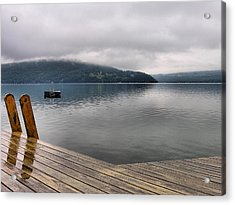 Rainy Day Keuka Acrylic Print by Steven Ainsworth