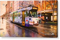 Rainy Day Melbourne Acrylic Print