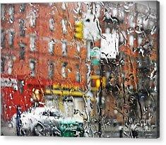 Rainy Day Nyc 2 Acrylic Print by Sarah Loft
