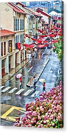 Rainy Day Singapore Acrylic Print