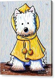 Rainy Day Westie Acrylic Print by Kim Niles