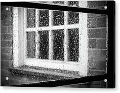 Rainy Day Window Acrylic Print