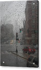 Rainy Days In Boston Acrylic Print by Julie Lueders